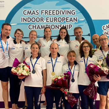 image listing championnats d'Europe d'apnée piscine 2019