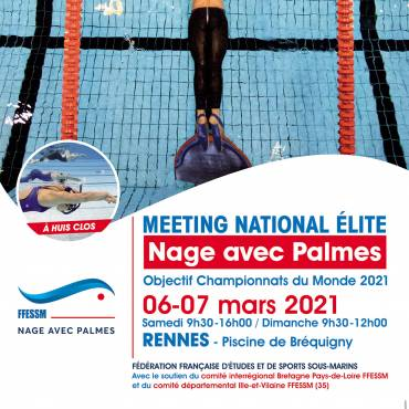 Affiche Meeting National Elite nage avec palmes - Rennes