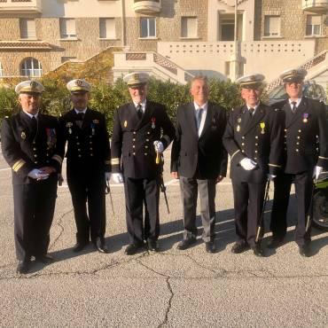 Le vendredi 18 décembre 2020, Jean-Louis Blanchard président de la Ffessm a participé à une grande cérémonie de remise de décorations à la Gendarmerie Maritime de Méditerranée, Toulon.