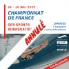 Annulation championnats covid-19